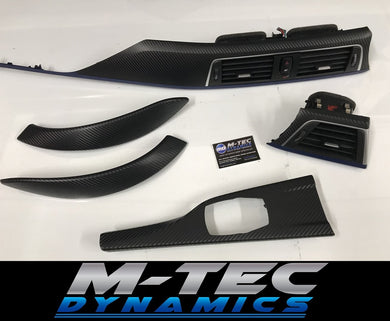 BMW F32 LCI F82 M4 TRIM SET 3D CARBON FIBRE BLUE