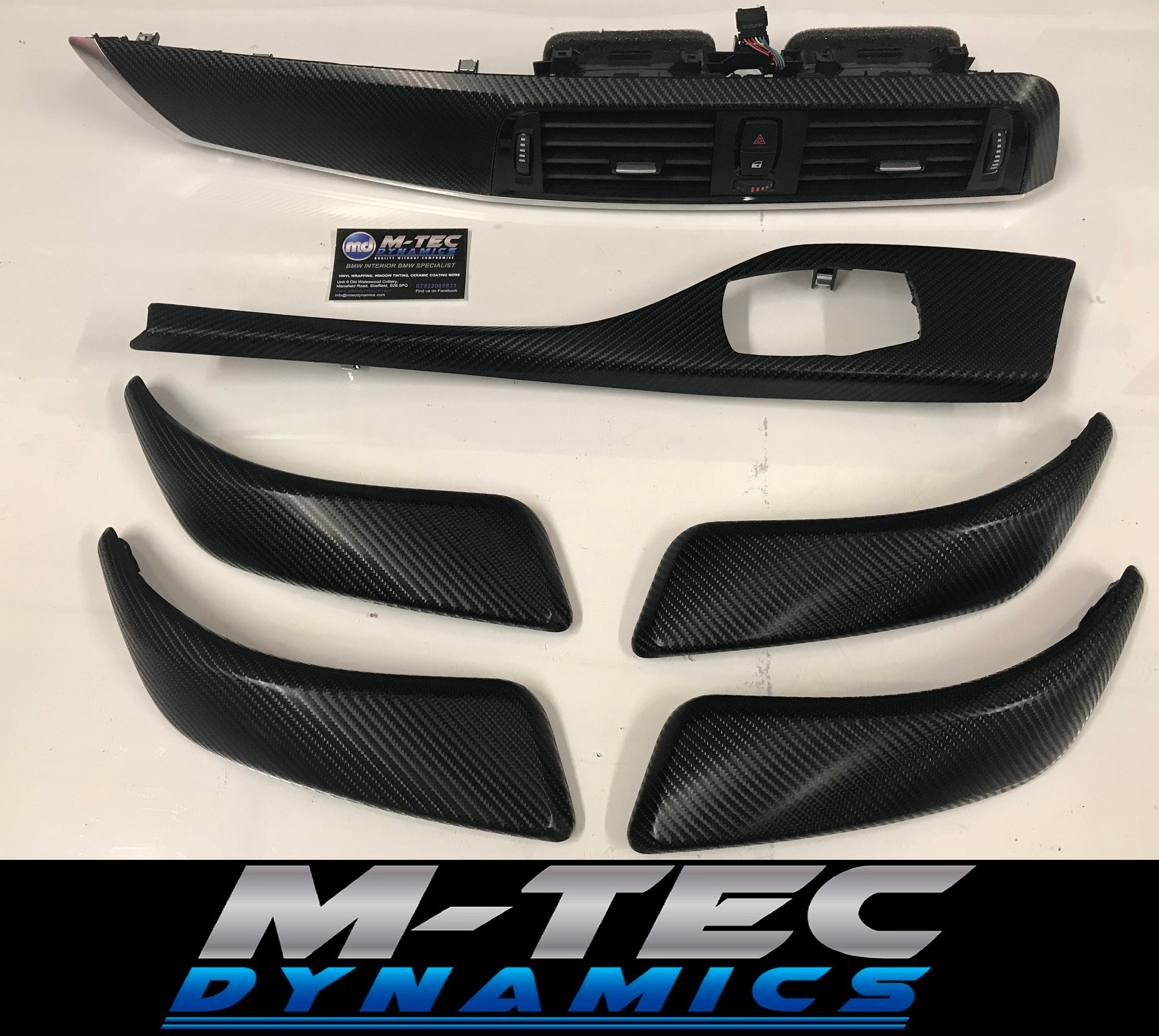 BMW F20 LCI2 4d Glossy Carbon with Aluminium Trim Set