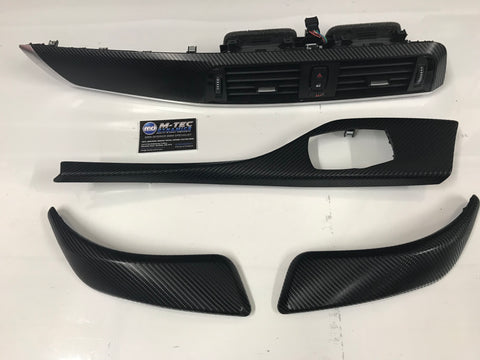 BMW F21 F22 LCI2 M2 4d Glossy Carbon with Aluminium Trim Set