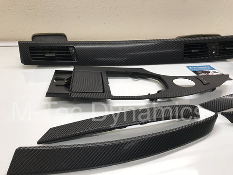 BMW E60 BLACK 4D CARBON FIBRE TRIM SET