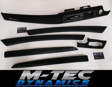 BMW F10 F11 M5 PERFORMANCE STYLE 3D BLACK CARBON INTERIOR TRIM SET