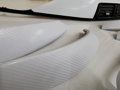 BMW F32 WHITE 4D CARBON INTERIOR TRIM SET