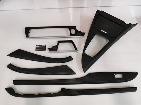 BMW 6-SERIES F06 GRAN COUPE 3D BLACK CARBON INTERIOR TRIM SET