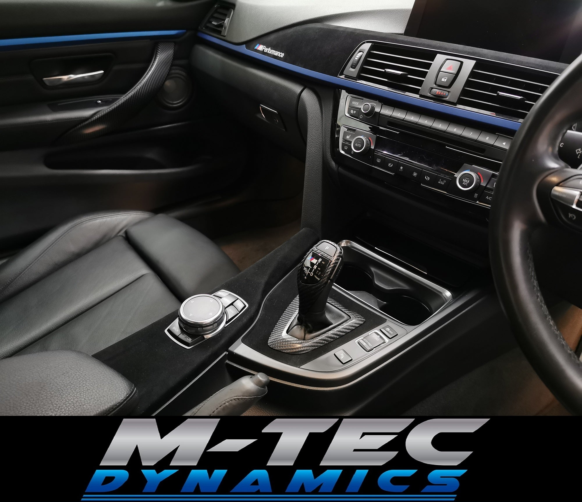 BMW F3x CUSTOM INTERIOR TRIM SET (FABRIC/CARBON/BLUE)