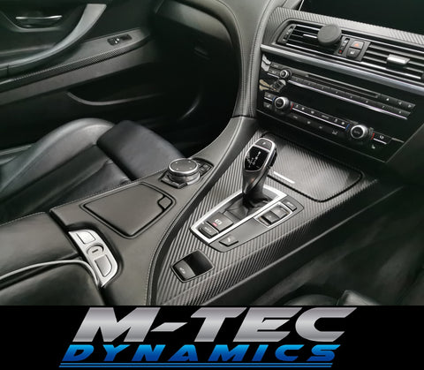 BMW 6-SERIES F12 CONVERTIBLE 3D BLACK CARBON INTERIOR TRIM SET