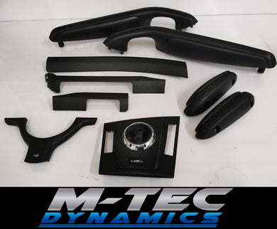 BMW E46 M3 SMG CONVERTIBLE 3D BLACK CARBON COMPLETE TRIM SET