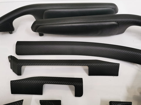 BMW E46 M3 SMG COUPE 3D BLACK CARBON COMPLETE TRIM SET