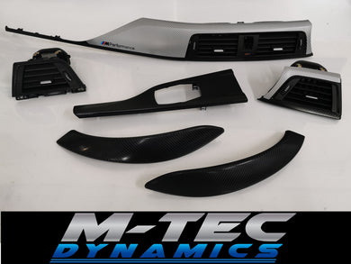 BMW F32 F82 M4 Black & Silver Carbon Custom Trim Set