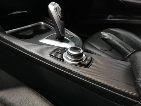 BMW F30 F80 3D Black Carbon / Silver Accent Trim Set