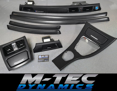 BMW E92 GLOSSY 4D BLACK CARBON TRIM SET CCC I-DRIVE