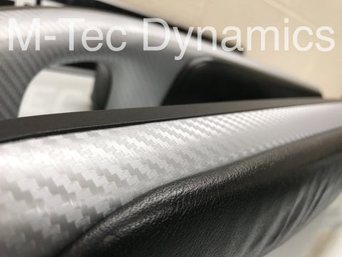 BMW E46 COUPE M3 3D SILVER CARBON FIBRE TRIM SET