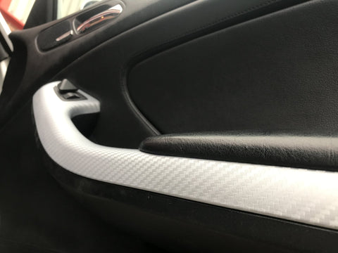 BMW E46 COUPE M3 4D SILVER CARBON FIBRE TRIM SET