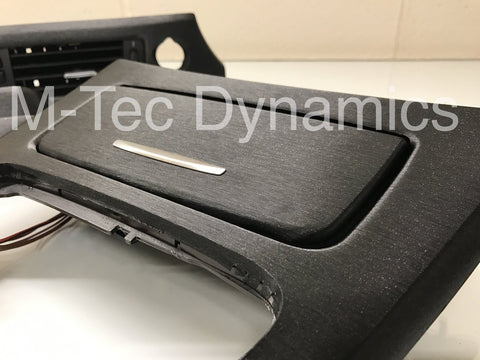BMW E90 BLACK BRUSHED ALUMINIUM TRIM SET