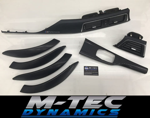 BMW F30 SHADOW / MATT BLACK / CARBON TRIM SET