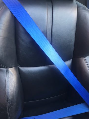 BMW E36 COUPE M3 CUSTOM BLUE FRONT SEAT BELT SET