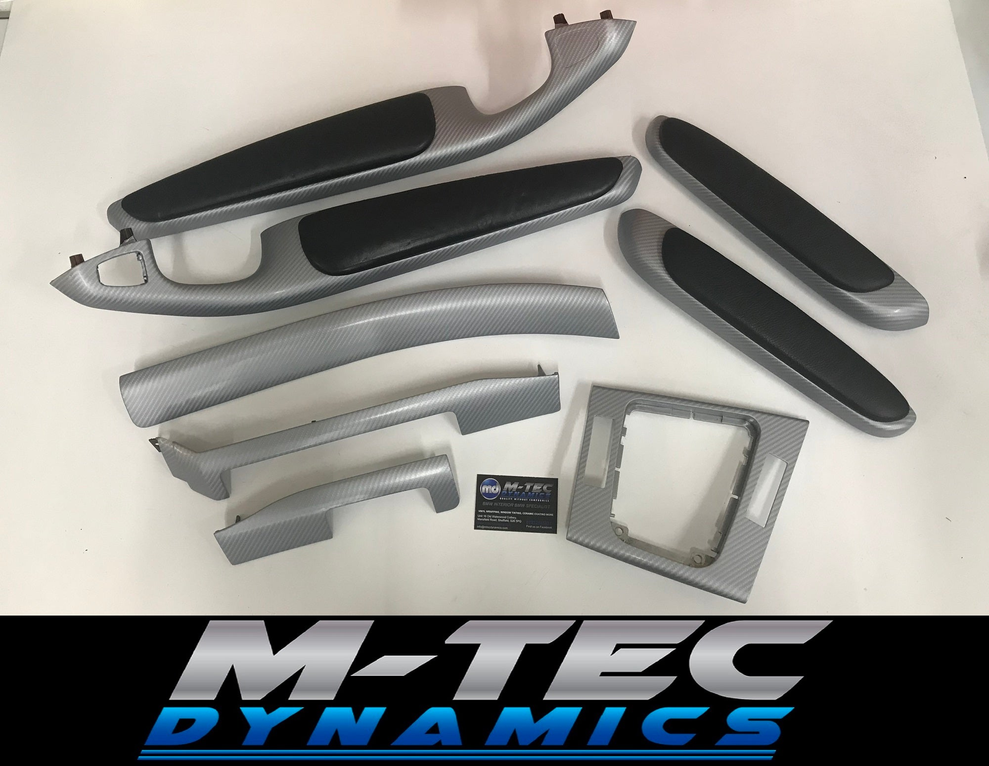 BMW E46 COUPE 4D GLOSSY SILVER CARBON TRIM SET