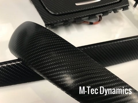 BMW E81 E82 4D BLACK CARBON FIBRE TRIM SET