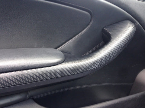 BMW E46 COUPE M3 3D BLACK CARBON FIBRE TRIM SET
