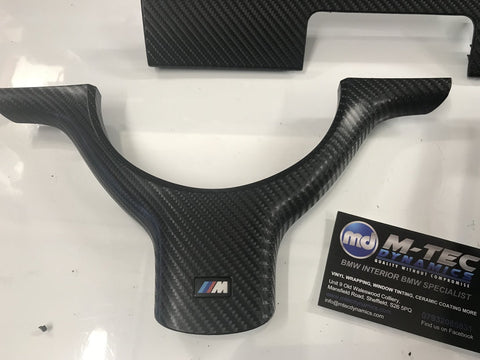 BMW E46 COUPE 4D GLOSS BLACK CARBON TRIM SET #2