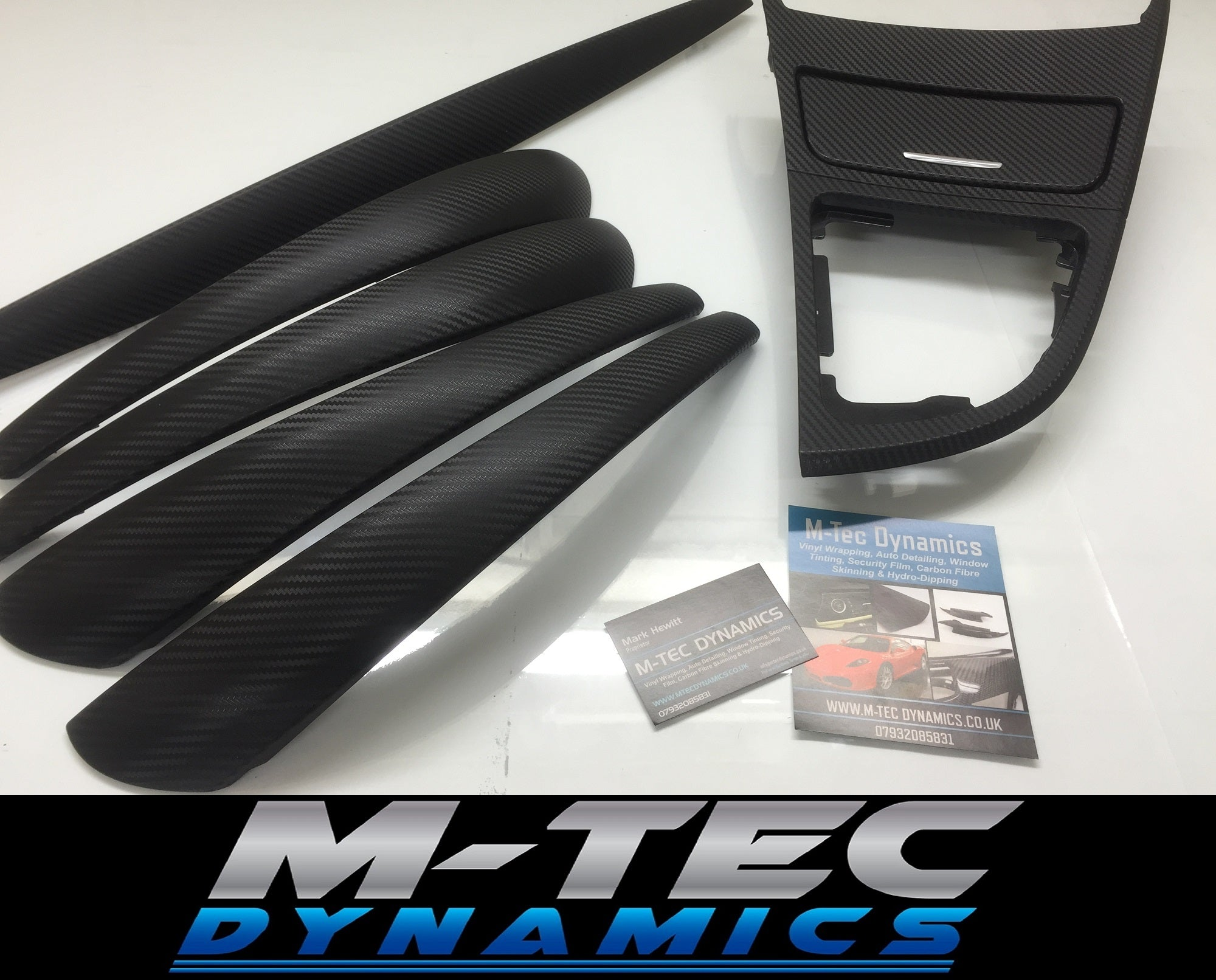 BMW E87 5DR HATCH 3D BLACK CARBON FIBRE TRIM SET