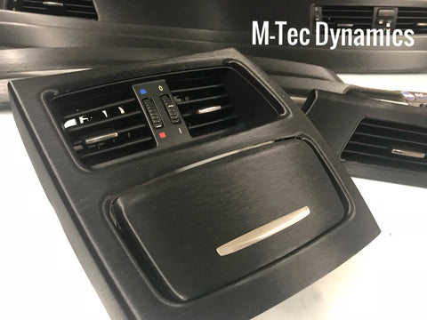 BMW E92 BLACK BRUSHED ALUMINIUM TRIM SET