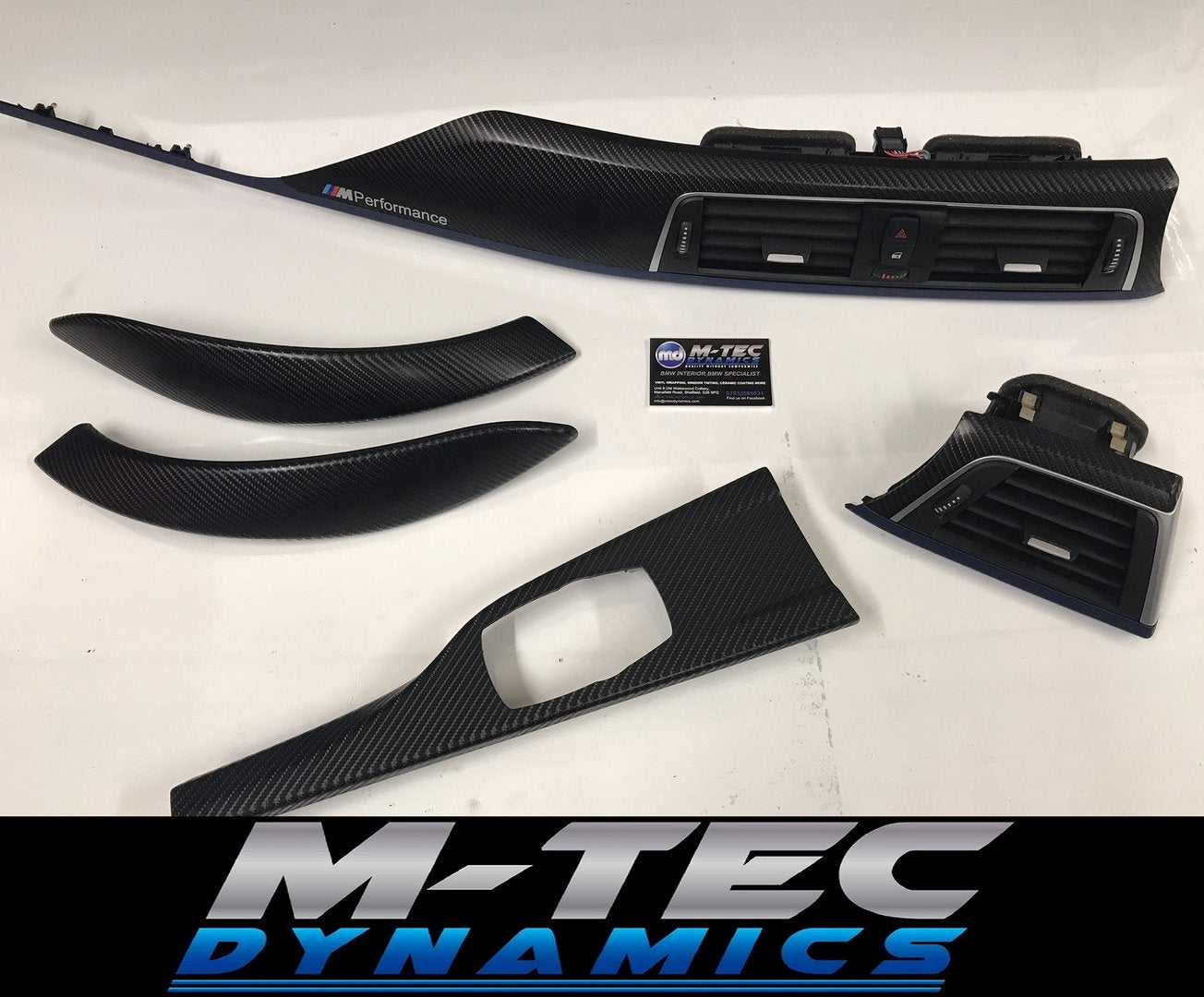 BMW F32 LCI F82 M4 TRIM SET 4D CARBON FIBRE BLUE