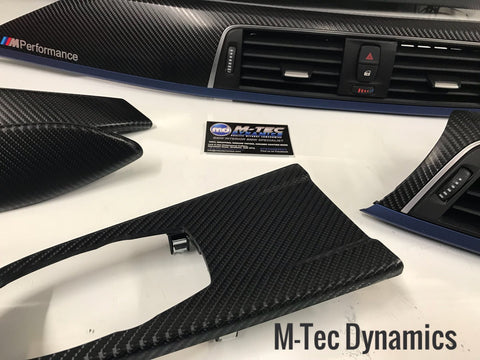 BMW F30 LCI F80 M3 TRIM SET 4D CARBON FIBRE BLUE