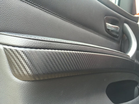 BMW E90 E91 3D 3M BLACK CARBON FIBRE TRIM SET