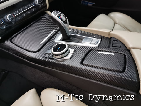 BMW F10 F11 M5 CUSTOM BLACK CARBON FABRIC INTERIOR TRIM SET