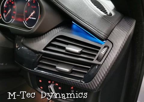 BMW X6 F16 INTERIOR TRIM SET WRAPPING SERVICE - 3D CARBON