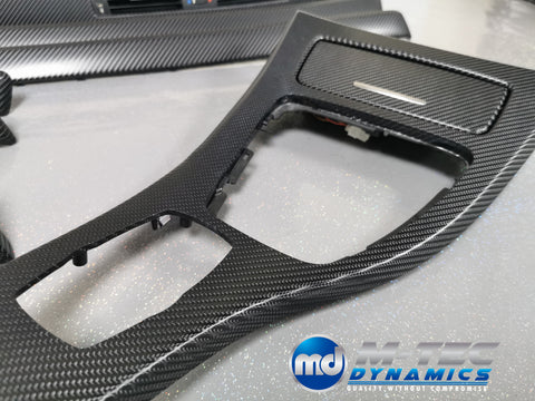 BMW E92 CIC BLACK 4D CARBON TRIM SET LCI I-DRIVE