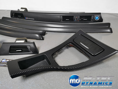BMW E92 COUPE GLOSSY 4D BLACK CARBON INTERIOR TRIM SET