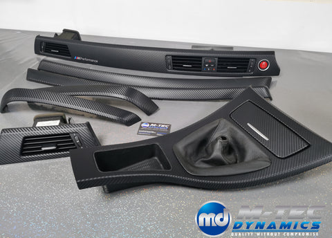 BMW E90 E91 3D BLACK CARBON FIBRE TRIM SET