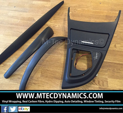 BMW E81 E82 3D 3M BLACK CARBON FIBRE TRIM SET