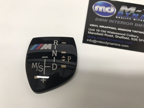 BMW Gear Insert Badge Sticker Shift Knob ///M Logo F20 F22 F10 F30 F32 F35 X5