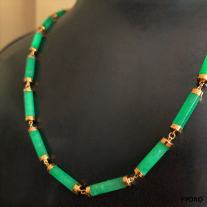 Juk Eternity Jade Necklace (with 14K Gold)