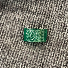 Load image into Gallery viewer, Huā Carved Zambian Emerald