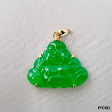 Load image into Gallery viewer, Guangdong Jade Buddha Pendant (with 18K Gold)
