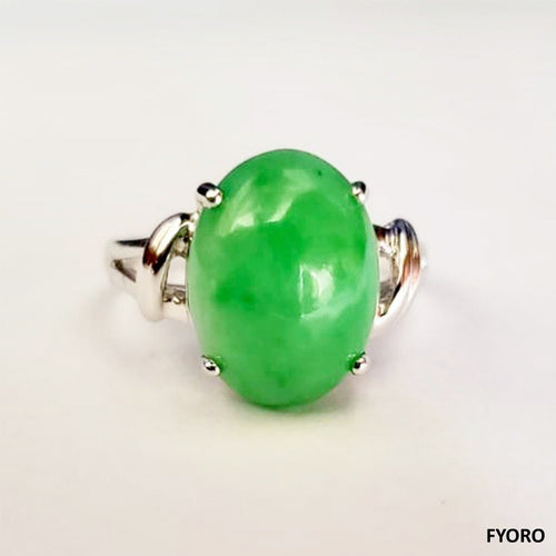 Beijing Royal Jade Ring (with 14K White Gold)