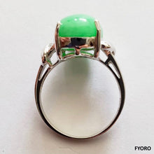 Load image into Gallery viewer, Beijing Royal Jade Ring (with 14K White Gold)