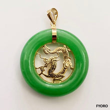 Load image into Gallery viewer, Lantau Jade Dragon Pendant (with 14K Gold)