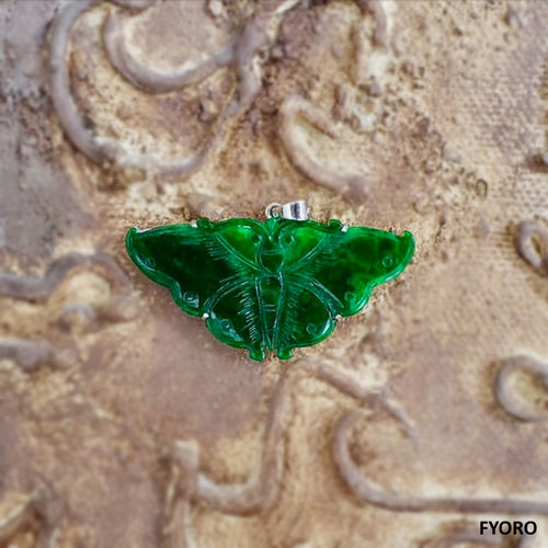 Yunnanese Jade Butterfly Pendant (with 14K Gold)