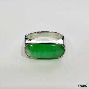 Nanjing Royal Jade Ring (with 14K White Gold)