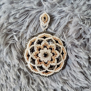 Florets of Divinity Pendant (with Diamonds and 18K White Gold)