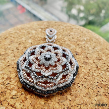 Load image into Gallery viewer, Florets of Divinity Pendant (with Diamonds and 18K White Gold)