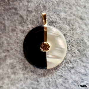 Yin and Yang Fortune Pendant (with 14K Gold)