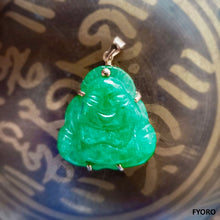 Load image into Gallery viewer, Lijiang Jade Buddha Pendant (with 14K Gold)