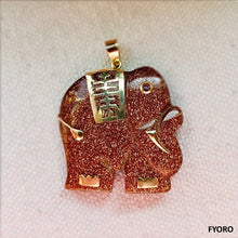 Load image into Gallery viewer, Shanghainese Gam Sandstone Elephant Pendant (with 14K Gold)
