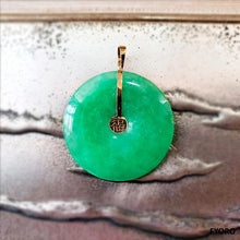 Load image into Gallery viewer, Tai Fu Fuku Fortune Jade Pendant (with 14K Gold)