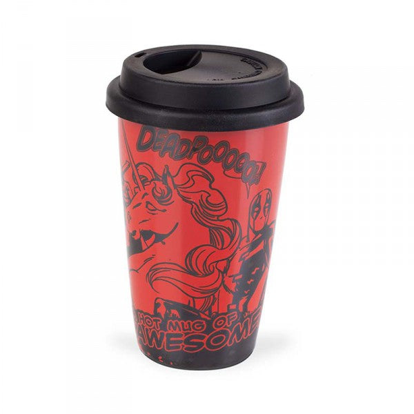 Deadpool Comic Hot Mug of Awesome Travel Mug